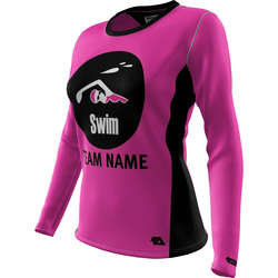"Swim ""Custom Team"" Womens LS REC T Elite"
