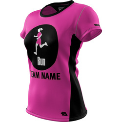 "Run ""Custom Team"" Womens SS REC T Elite"