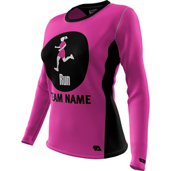 "Run ""Custom Team"" Womens LS REC T Elite"